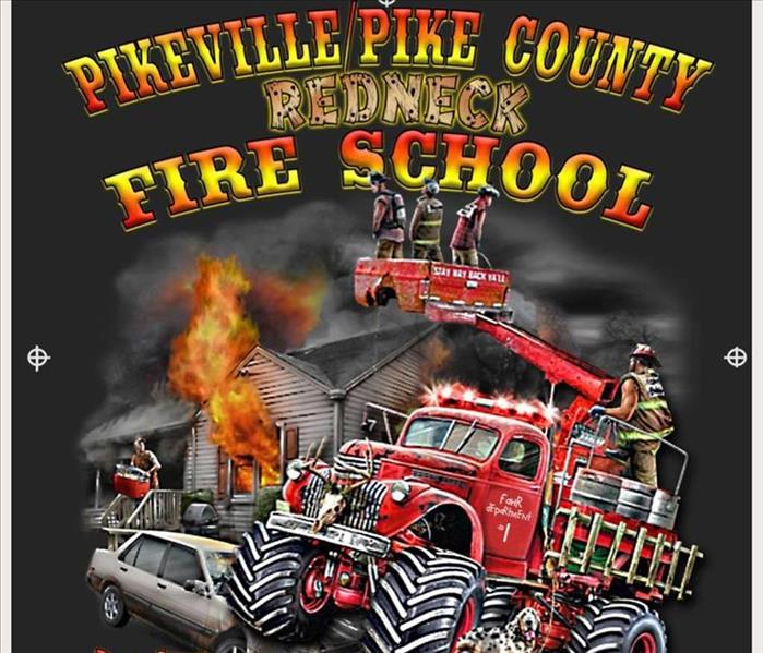 Fire Damage Residents of Pike, Floyd, & Knott Counties --SERVPRO is attending this year's Fire School in Pikeville!